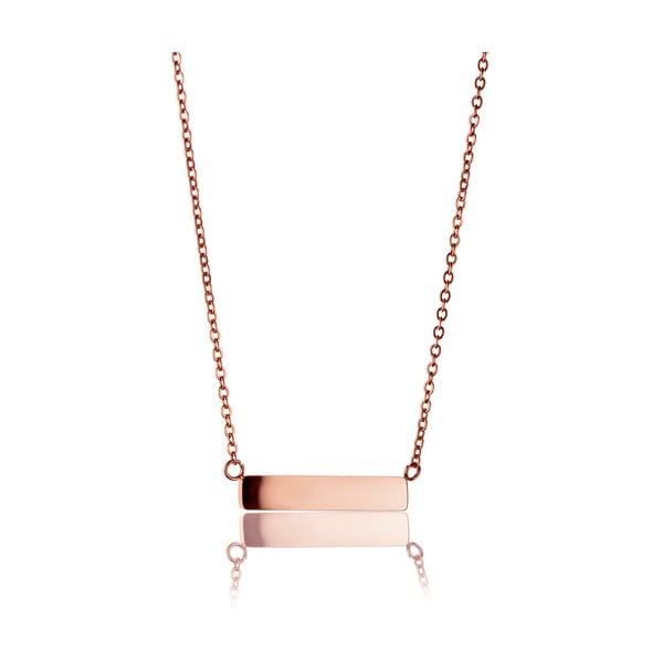 Colier din oțel inoxidabil Emily Westwood Classy, roz auriu