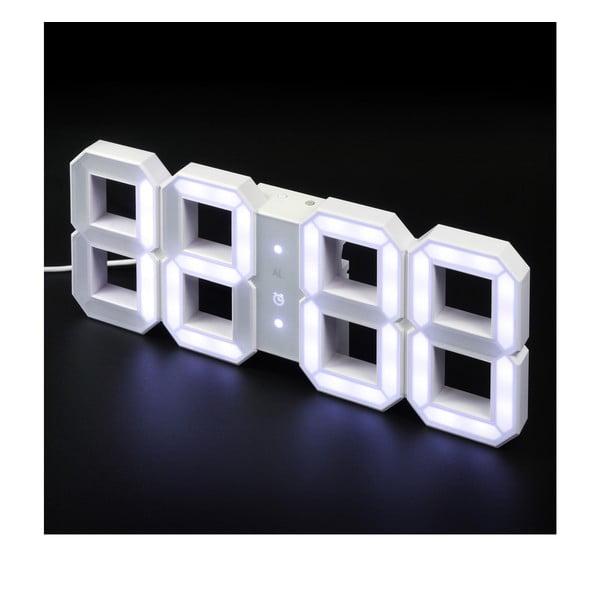 Bílé LED hodiny od Vadima Kibardina, kabel 5 metrů
