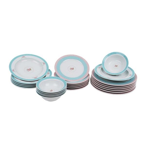 24-częściowy zestaw talerzy porcelanowych Kutahya Culiya