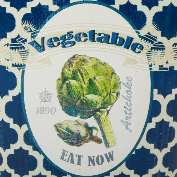 Găleată din metal Vegetables, înălțime 15,5 cm, albastru