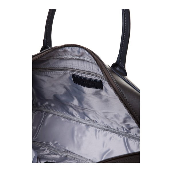 Kožená kabelka do ruky Marta Ponti Case, béžová/šedá