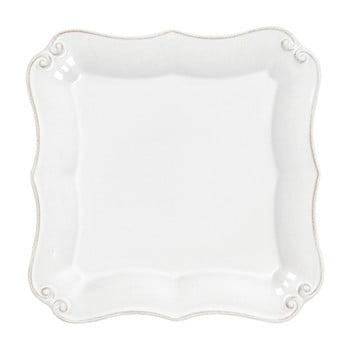Farfurie din ceramică pentru desert Costa Nova Barroco, lungime 13 cm, alb