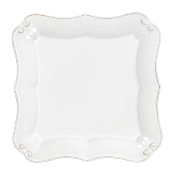 Biały kamionkowy talerz deserowy Casafina Vintage Port, dł. 13 cm