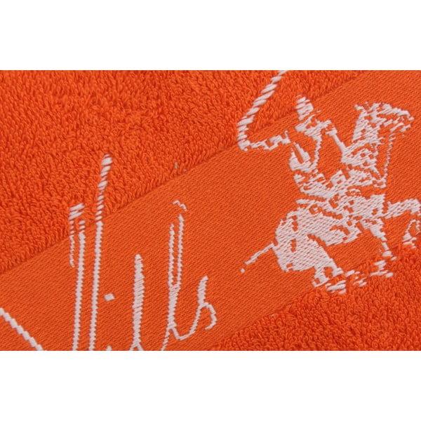 Oranžový bavlněný ručník BHPC Jacquard, 50x100 cm