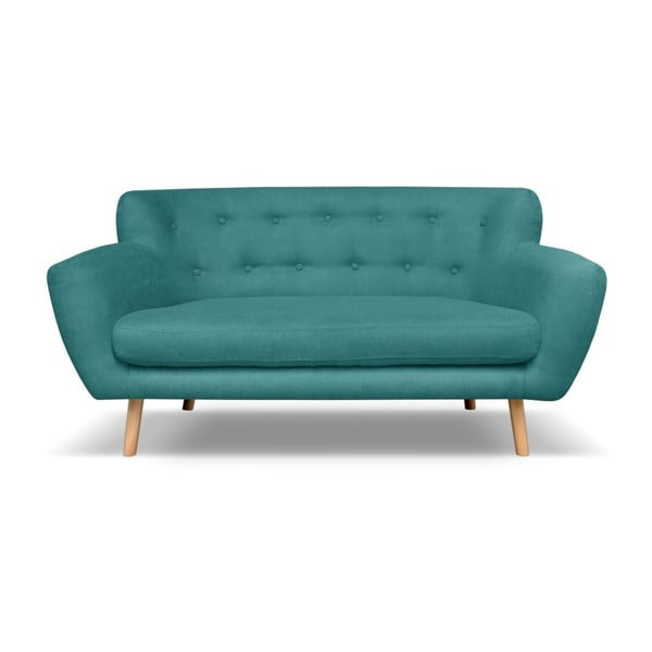 London kékeszöld kétszemélyes kanapé - Cosmopolitan design