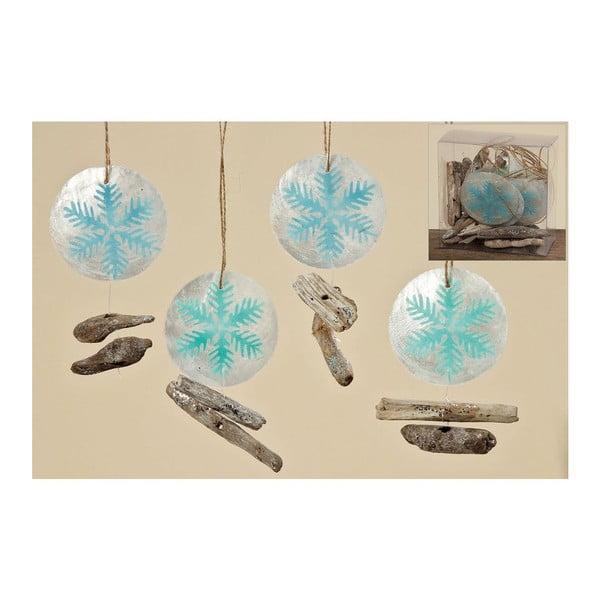Sada 10 ks závěsných dekorací Winter Ball