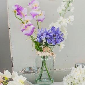 Skleněná váza s umělou květinou Sweetpea, 33 cm