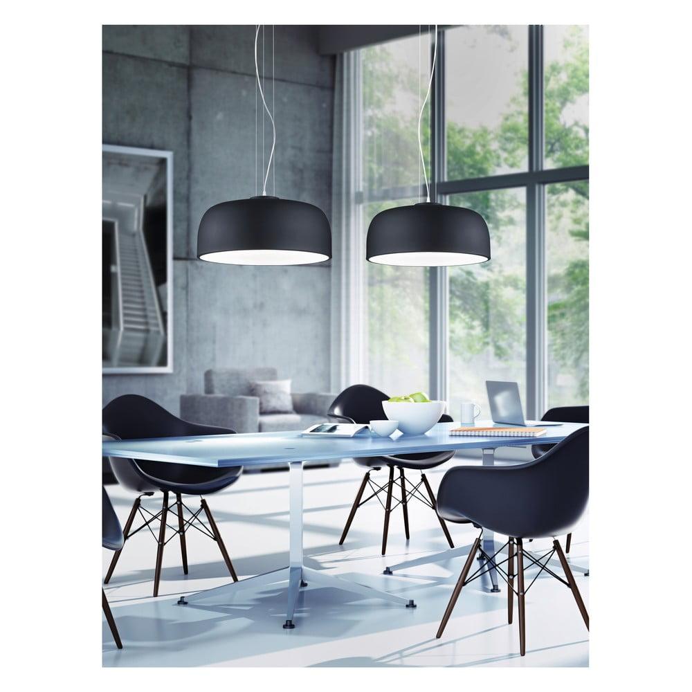 Produktové foto Černé závěsné svítidlo Trio Baron, výška 1,5 m