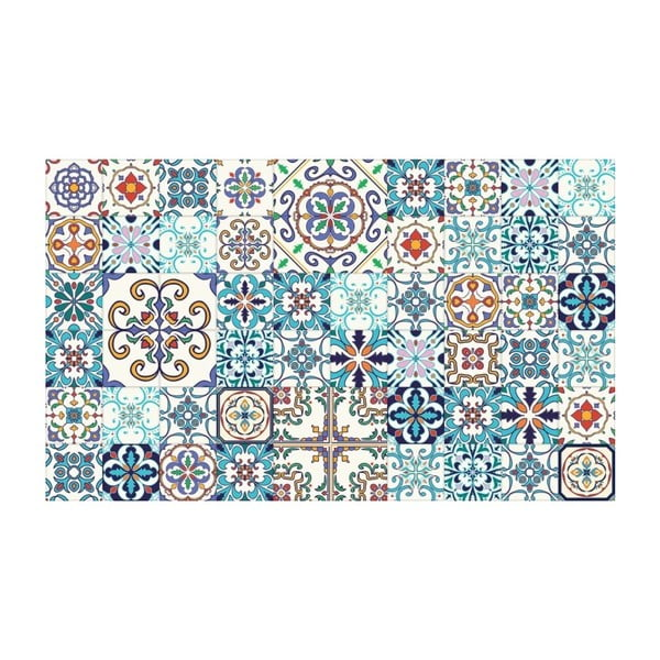 Sada 60 nástenných samolepiek Ambiance Tiles Azulejos Antibes, 10 × 10 cm