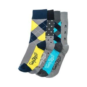 Sada 4 párů ponožek Funky Steps Goofy, univerzální velikost