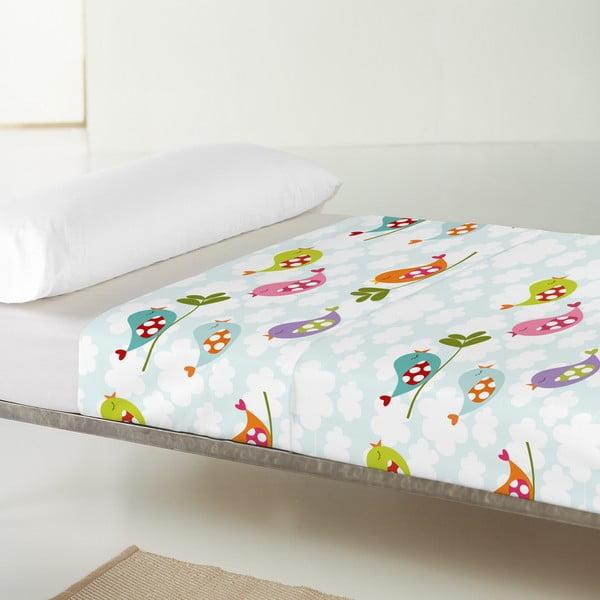 Dětský povlak na polštář a přehoz Mr. Fox Little Bird, 100x130 cm