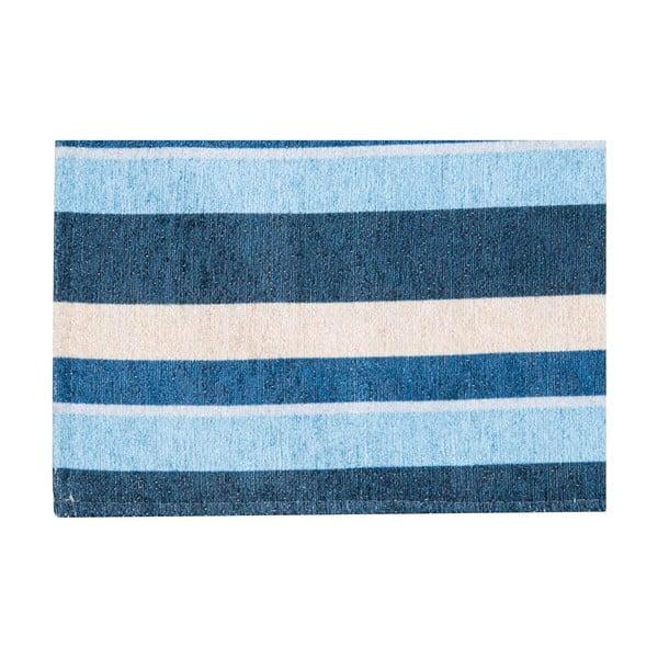 Vysoce odolný kuchyňský koberec Webtappeti Stripes Blue,130x190cm