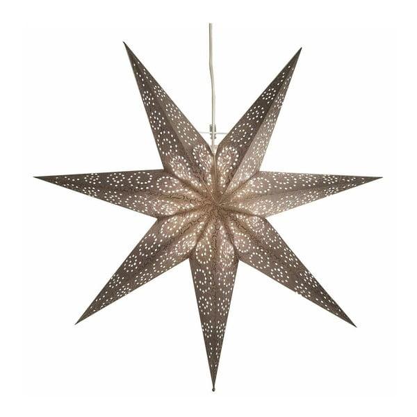 Závěsná svítící hvězda Antique Grey, 80 cm