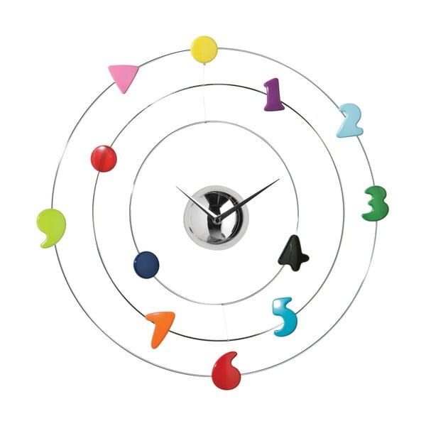 Nástěnné hodiny Color Numbers, 45 cm