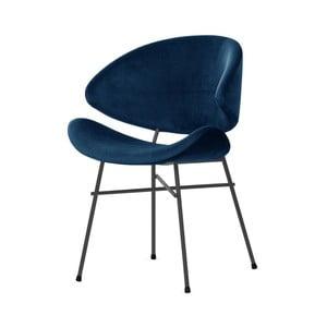 Tmavě modrá židle s černými nohami Iker Cheri