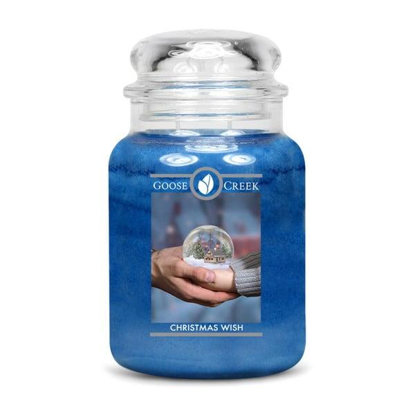 Lumânare parfumată în recipient de sticlă Goose Creek Christmas Wish, 150 ore de ardere