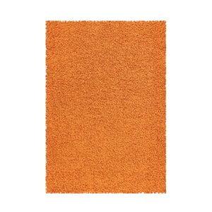 Koberec Shaggy 120x170 cm s 3 cm dlouhým vlasem, oranžový