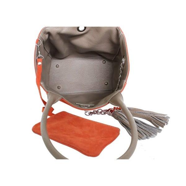 Oboustranná kožená kabelka Dolce Sonia Burro/Blu navy