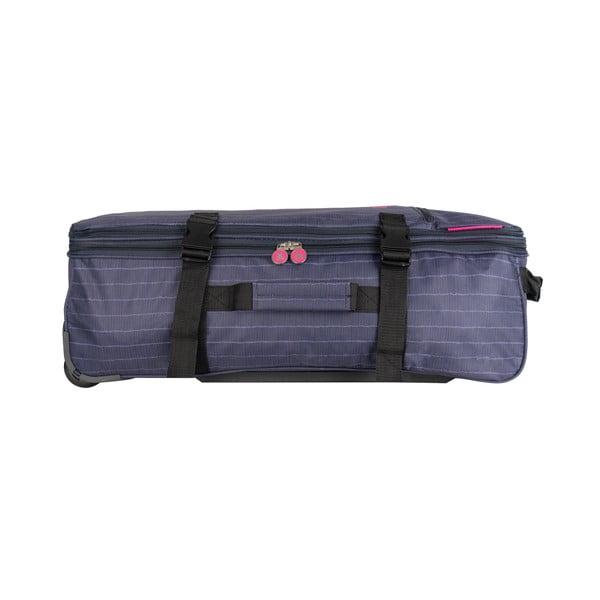 Cestovná taška v odtieni magenta na kolieskach Lulucastagnette Rallas, 91 l