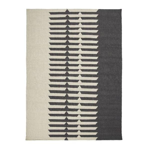 Vlněný koberec Tottori Black, 170x240 cm