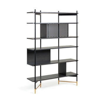 Bibliotecă La Forma Norfort, înălțime 177 cm, negru imagine