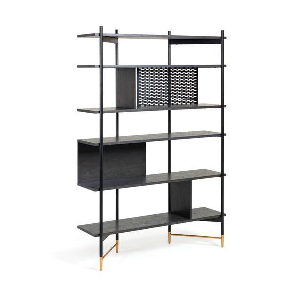 Bibliotecă La Forma Norfort, înălțime 177 cm, negru