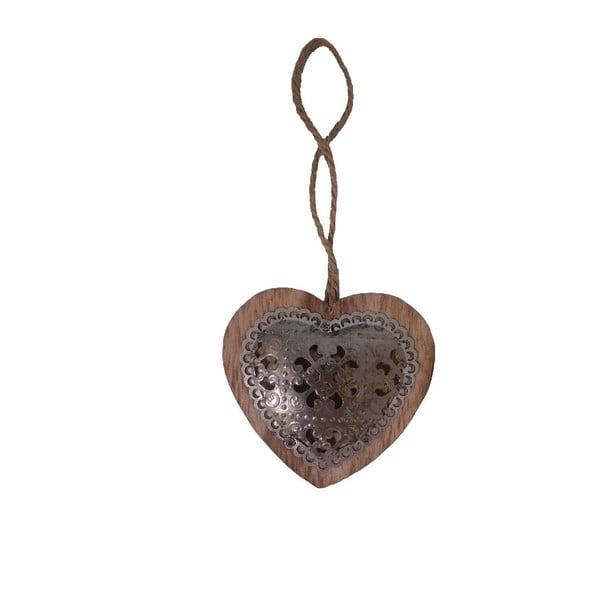 Dekorativní závěsné srdce Antic Dark Heart
