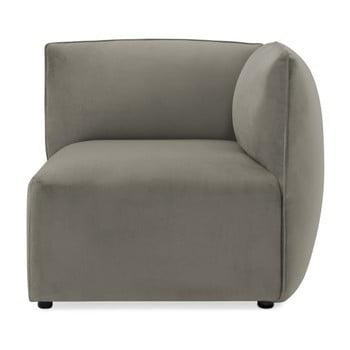 Modul colț dreapta pentru canapea Vivonita Velvet Cube gri