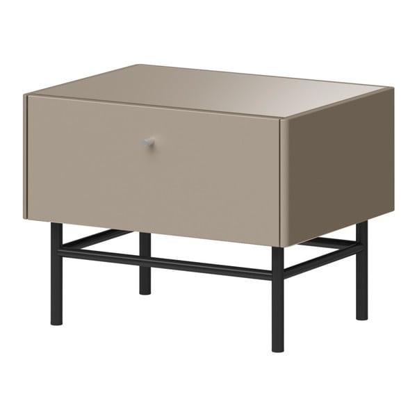 Šedý noční stolek Germania Monteo