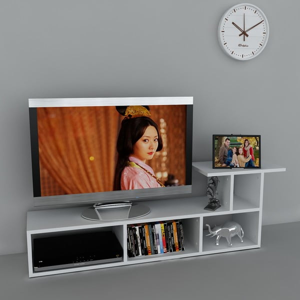 Stolek na televizi Sedrus White, 29,5x140x45,5 cm