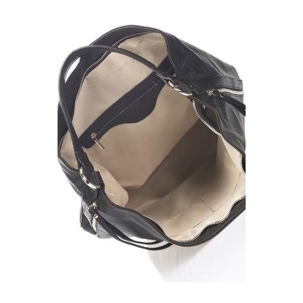 Kožená kabelka Krole Karla, černá