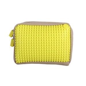 Pixelová taštička, beige/yellow