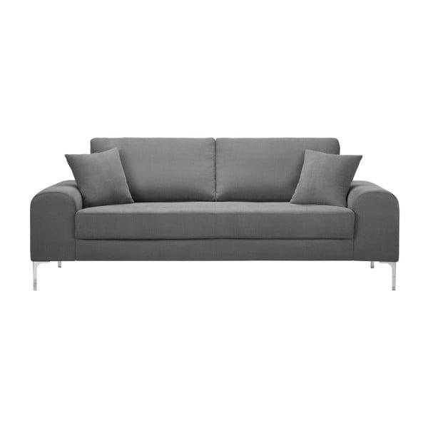 Set canapea gri închis cu 3 locuri, 4 scaune crem, o saltea 160 x 200 cm Home Essentials