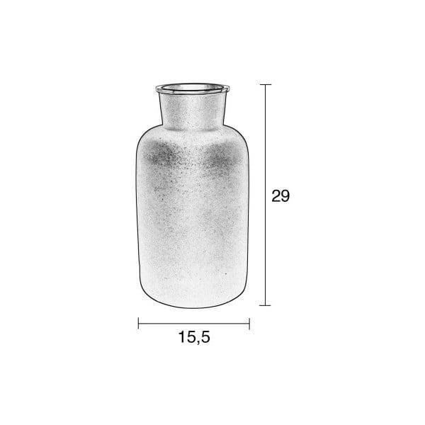 Černá hliníková váza zuiver Farma, výška29cm