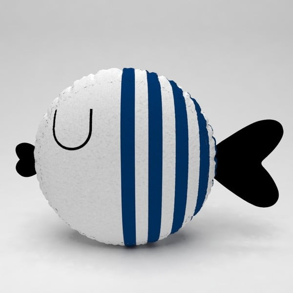 Dětský polštářek OYO Kids Fish With Navy Stripes