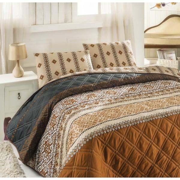 Sada prošívaného  přehozu přes postel a dvou polštářů Double 286, 200x220 cm