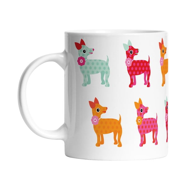 Keramický hrnek Dogs in Colours, 330 ml