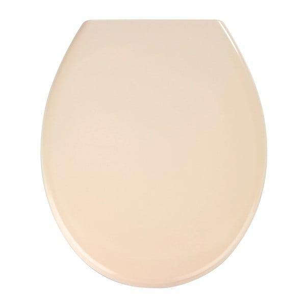 Světle růžové WC sedátko se snadným zavíráním Wenko Premium Ottana, 44,5 x 37,5 cm