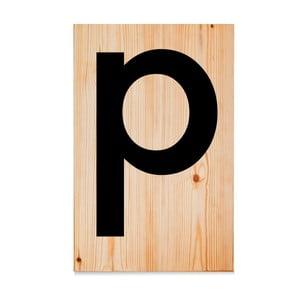 Dřevěná cedule Letters P