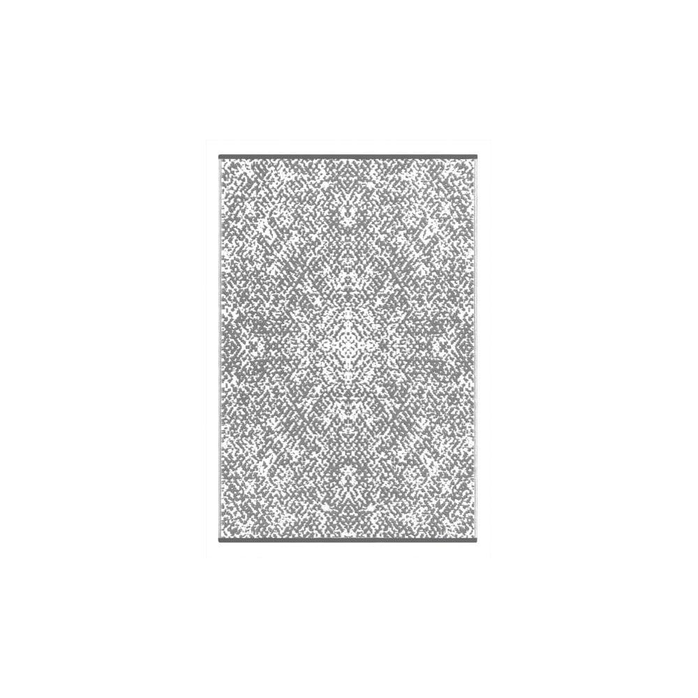 Šedobílý oboustranný venkovní koberec Green Decore Gatra, 90 x 150 cm