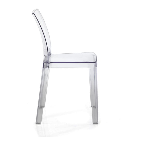 ea5c258869e9 Sada 2 transparentných plastových jedálenských stoličiek vhodných do  e×teriéru Tomasucci Mia