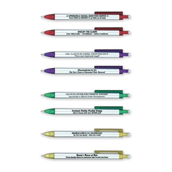 Sada 8 kuličkových per Fred & Friends Borrow My Pen