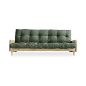 Canapea extensibilă Karup Indie Natural, verde