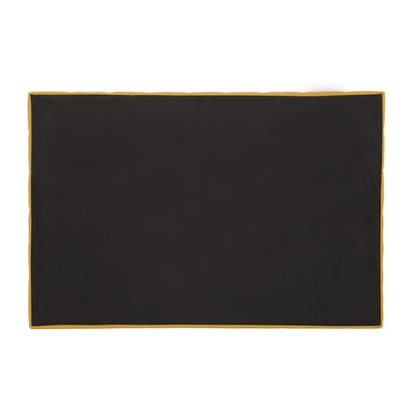 Hořčicově žlutá boxspring postel VivonitaKoso, 210x200cm
