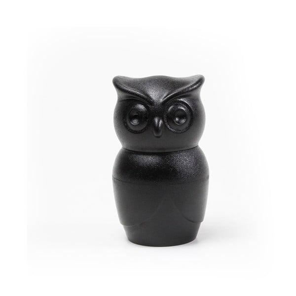 Râșniță pentru piper Qualy&CO Owl, negru