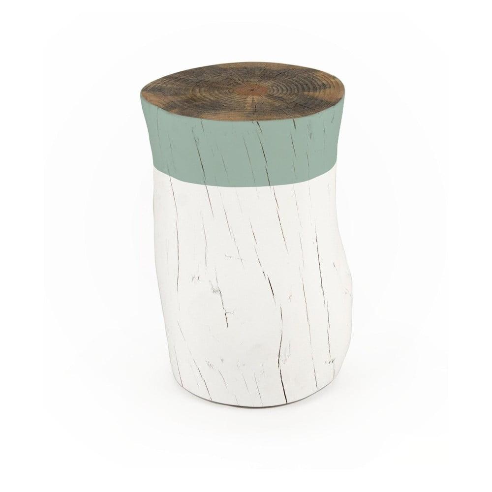 Taburetka z borovicového dřeva Surdic Tronco Verde Jade