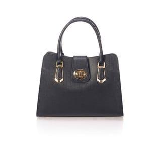 Černá kožená kabelka Lisa Minardi Dracula