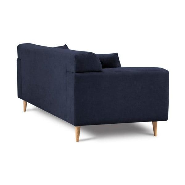 Tmavě modrá třímístná pohovka Kooko Home Twist