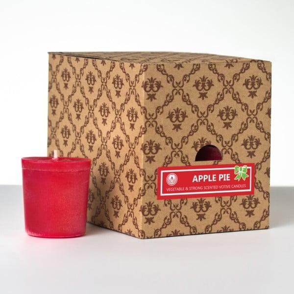 Sada 12 vonných svíček Apple Pie, 15 hodin hoření