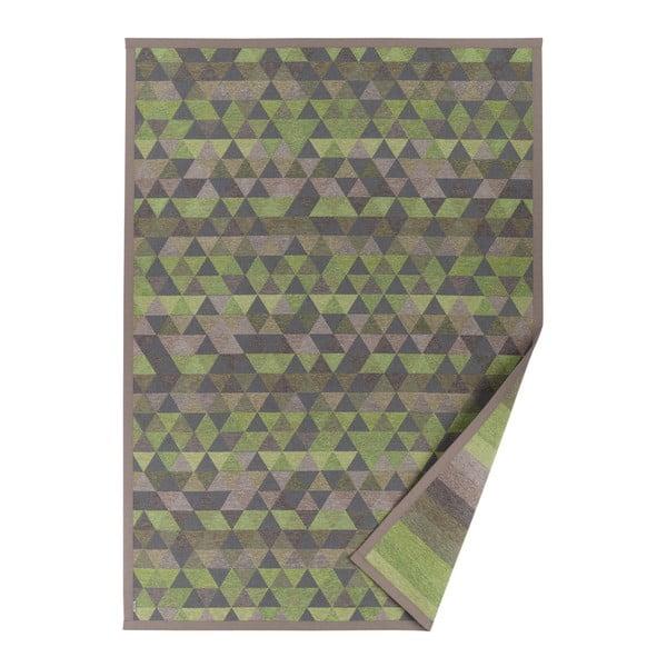 Luke zöld, mintás kétoldalas szőnyeg, 70 x 140 cm - Narma